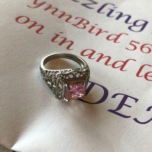 New Pink Filgree Ring